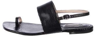 Dries Van Noten Embossed Slingback Sandals
