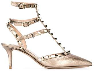 Valentino 'Rockstud' metallic pumps