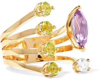 Delfina Delettrez 18-karat Gold Multi-stone Ring