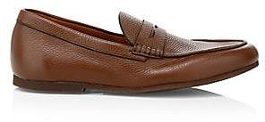 0112a73b58b Aquatalia Men s Kirk Pebbled Leather Penny Loafers