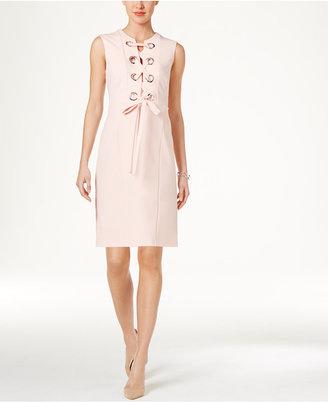 Tommy Hilfiger Grommet Lace-Up Dress $129 thestylecure.com