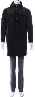 Givenchy Hooded Wool Coat black Hooded Wool Coat