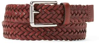 Banana Republic Braided Leather Roller Buckle Belt