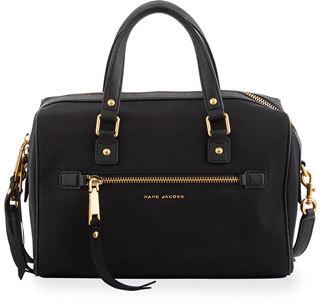 Marc Jacobs Trooper Nylon Bauletto Bag, Black $275 thestylecure.com