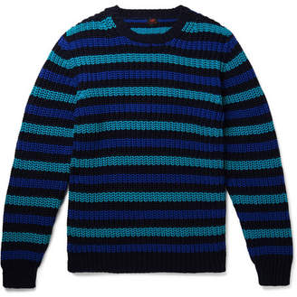 Piombo MP Massimo Slim-Fit Striped Cotton Sweater