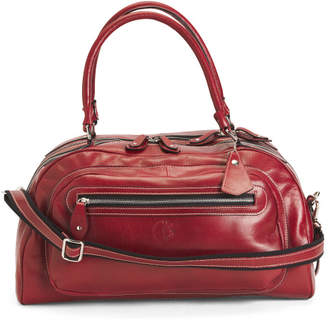Made In Italy Leather Double Entry Dome Duffel