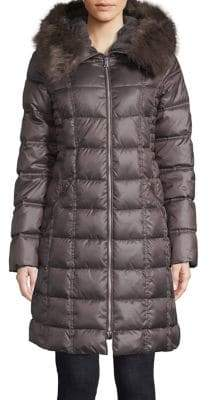 Laundry by Shelli Segal Therma Tech Faux Fur Trimmed Parka