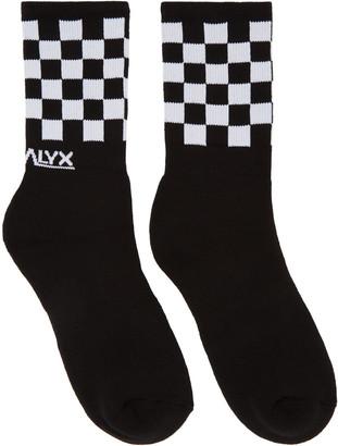Alyx Black Checkered Socks $20 thestylecure.com