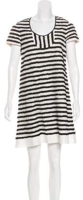 Mayle Ruffled Striped Dress