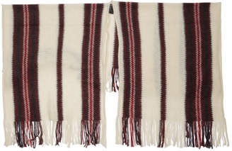Isabel Marant Red and White Kassy French Touch Shawl
