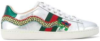 Gucci Ace dragon embroidered sneakers