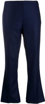 Berwich cropped kick-flare trousers