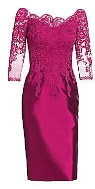 Morley Helen Women's Lace Bodice Cocktail Dress