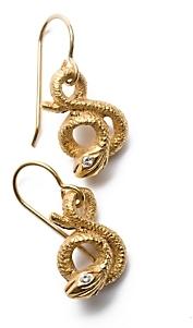 Elizabeth Cole Snake Earrings
