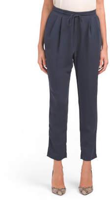 Juniors Elastic Solid Woven Pants