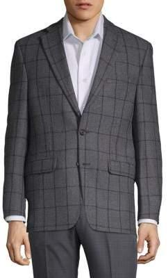 Lauren Ralph Lauren Windowpane Classic-Fit Wool Jacket