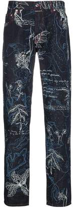 Alexander McQueen Floral printed slim jeans