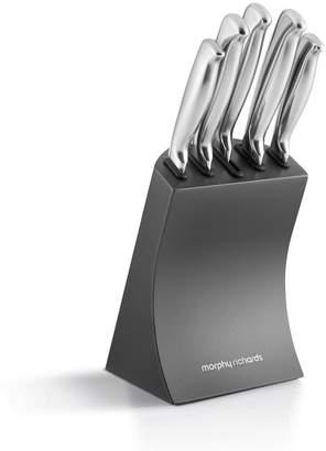 Morphy Richards Accents 5-piece Knife Block Set Titanium