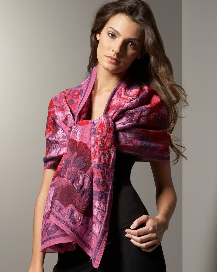 Etro Floral Embroidery Scarf