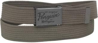 Original Penguin Mens Webbing Belt Khaki
