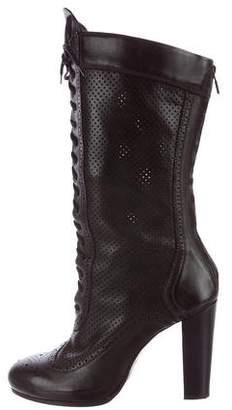 Belstaff Lace-Up Mid-Calf Boots