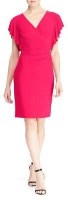 Lauren Ralph Lauren Petite Jersey Flutter Sleeve Dress