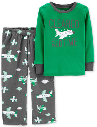 Carter's Toddler Boys 2-Pc. Airplane Pajama Set