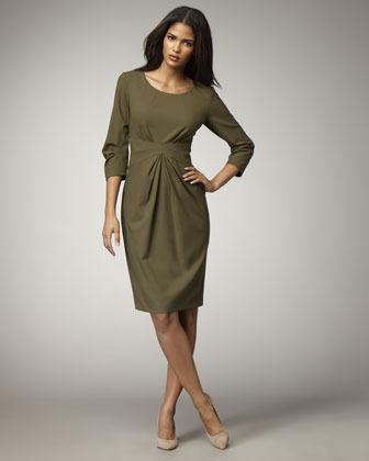 Lafayette 148 New York Gathered-Waist Dress