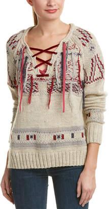 Gypsy 05 Wool & Alpaca-Blend Lace-Up Sweater