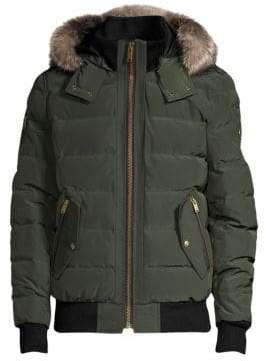 Moose Knuckles Turner Fox Fur Trim Quilted Bomber