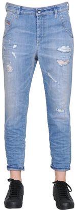 Fayza Destroyed Cotton Denim Jeans $198 thestylecure.com