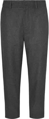 Mr P. Cropped Wide-Leg Wool-Blend Felt Trousers