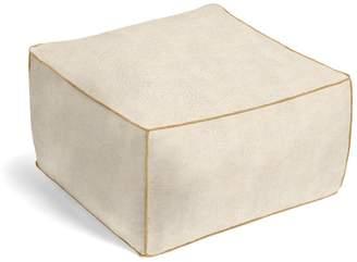 Loom Decor Square Pouf Metallic Linen - Shimmer