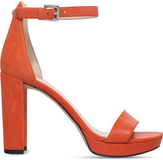 c07eb2e9293 Nine West Dempsey suede and smooth leather sandals