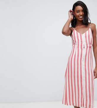 Glamorous Tall midi cami dress in stripe
