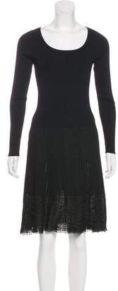 Ralph Lauren Black Label Knit Knee-Length Dress