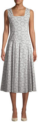 Derek Lam 10 Crosby Derek Lam Geo Midi Dress With Full Skirt