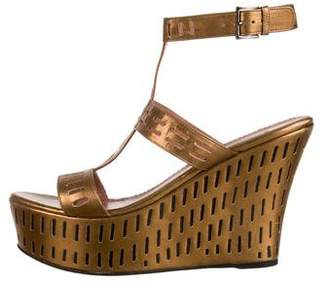 Alaia Metallic Platform Wedges