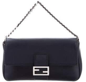 Fendi Leather Mini Baguette Bag
