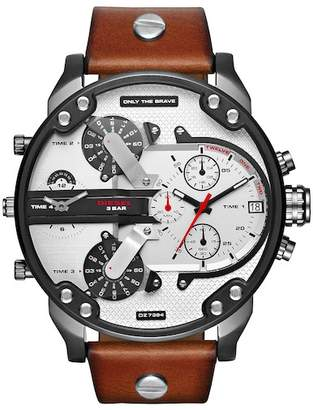 Diesel Men's Mr. Daddy 2.0 Chronograph Leather Strap Watch, 57mm