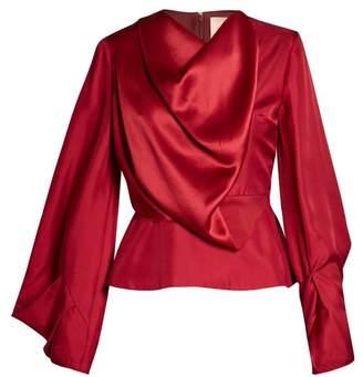 Roksanda Voru Origami Sleeved Draped Top - Womens - Red
