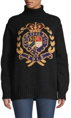 Polo Ralph Lauren Wool Logo Crest Turtleneck