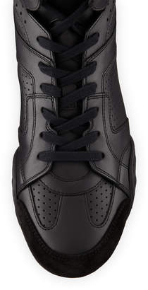 Christian Dior D Fence Perforated High-Top Sneakers, Black