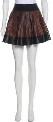 A.L.C. Leather Wrap Mini Skirt