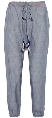 Lemlem Cropped Printed Cotton And Silk-Blend Tapered Pants