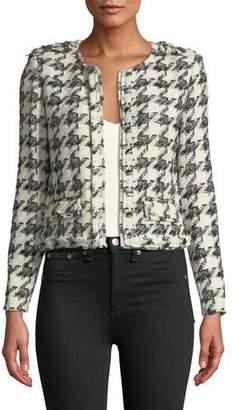 IRO Hope Strong-Shoulder Cropped Tweed Jacket
