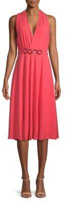 Halston Surplice Knee-Length Dress