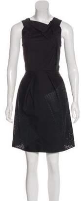 Roland Mouret Sleeveless Laser Cut Dress