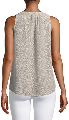 Joie Fifi Split-Neck Printed Tank