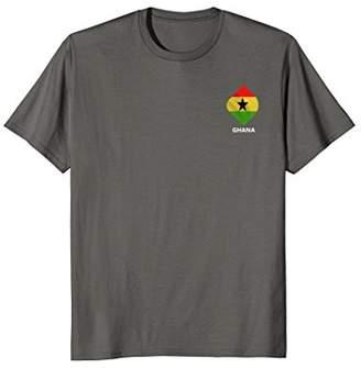 Ghana Flag Minimal Abstract Pocket T-Shirt